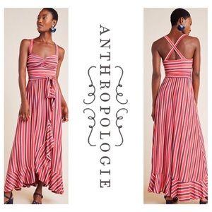 Anthropologie Maeve Gabriela Ruffled Maxi Dress